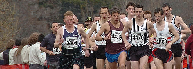 Runners taking part in the 10k race