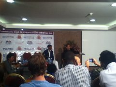 Haile Gebreselassie at Press Conference