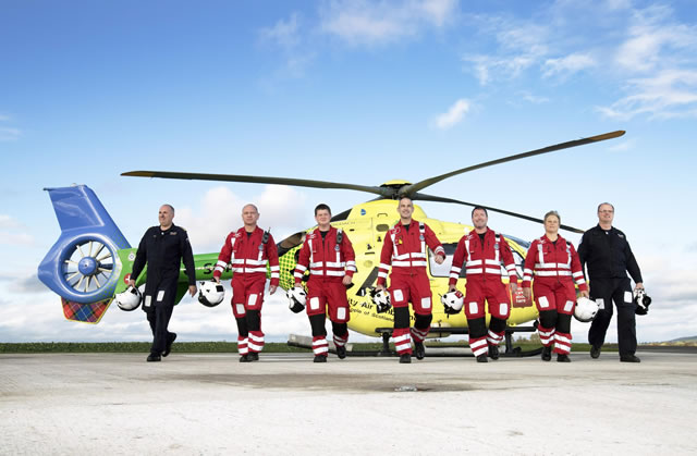 Scotland's Charity Air Ambulance (SCAA) Team and Helicopter